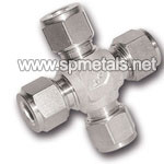 Twin ferrule fittings / Tube to Tube / Union Cross